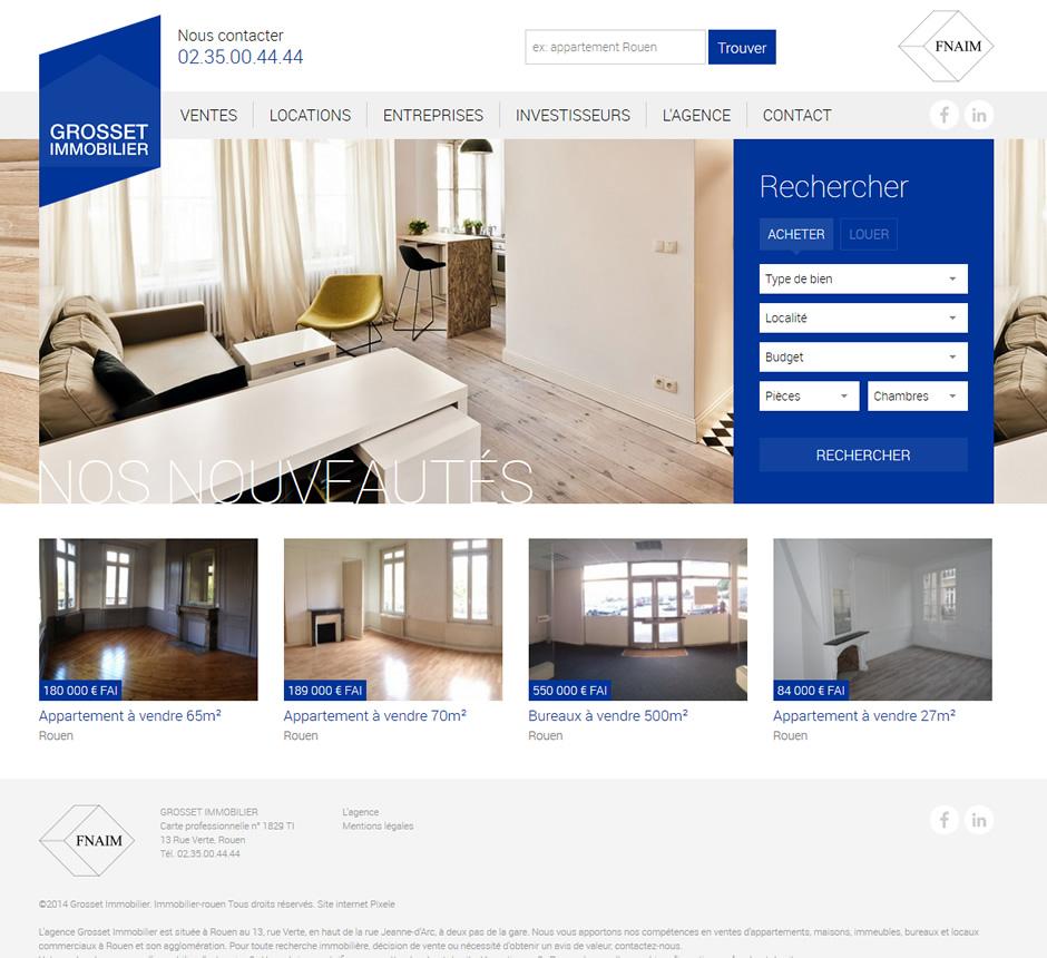 f7ee4af301b7f8 ... Création du site internet Grosset Immobilier